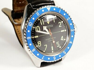 New Custom Bezel Submariner Style for Vostok Amphibian Watch Seiko Blue Insert