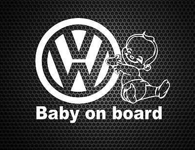 Baby On Board vw German Euro Kids Funny Car Bumper Window Sticker Vinyl Decal
