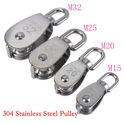Hanging Swivel pulley Block Accessories Single wheel Silver Industrial