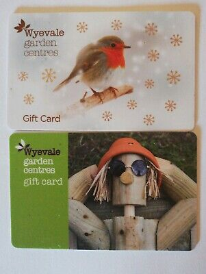 2 X Wyevale Garden Centres Gift Cards Total £20