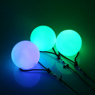 Colorful Spinning LED Light Ball Paint air with light  Glow Thrown Balls