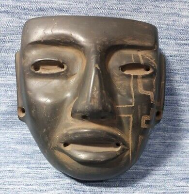 Pre-Columbian Teotihuacan Stone mask from Mexico. Ca. 400 bc.