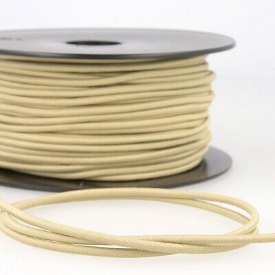 Round Rayon Elastic Cord - 3mm Wide - Taupe - Per Metre