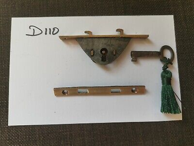Higher quality antique writing slope working lock and keep with key.