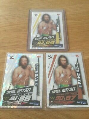 Slam Attax Universe DANIEL BRYAN - Set of 3 LIMITED EDITION - GOLD SILVER BRONZE