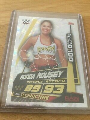 Slam Attax Universe - Ronda Rousey - Gold LImited Edition