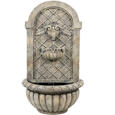 Sunnydaze French Limestone Venetian Electric Outdoor Wall Water Fountain