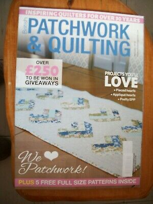 British Patchwork & Quilting Sewing Magazine,February 2018, Issue 289