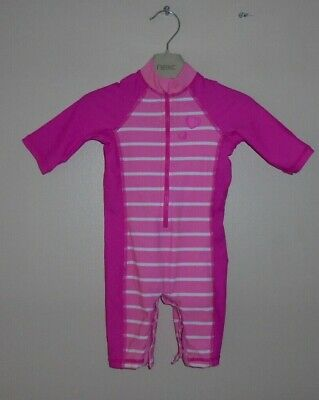 Bnwot Girls Pink Uv Protection Sun Safe Swim Suit Age 6-9 Months - Mothercare
