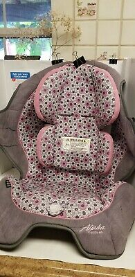 Safety 1st Alpha Omega Elite 65 Pink Brown Car Seat Fabric Cover Replacement