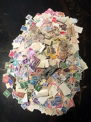 World Wide Mixture Lot of Hundreds of Stamps Off Paper Foreign Mix