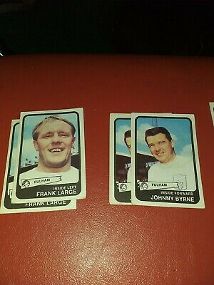 Abc Footbal Cards. Yellow back Fulham