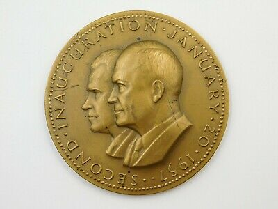 Dwight Eisenhower & Richard Nixon Second Inauguration Commemorative Bronze Medal