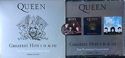 QUEEN- The Greatest Hits Vol.1, 2 & 3~Best of 3-CD BOX SET Platinum Collection
