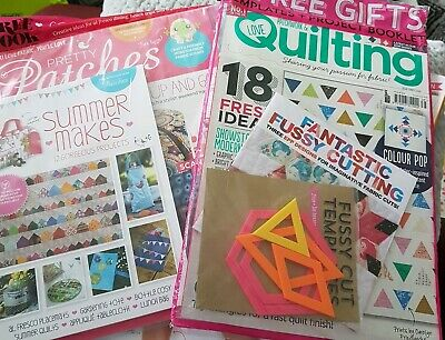 2 Brand New Sealed Craft Magazines Quilting And Pretty Patches