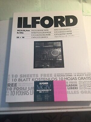 Ilford Multigrade IV RC Deluxe Glossy 8 x 10 Photographic Paper 35 sheets NOS