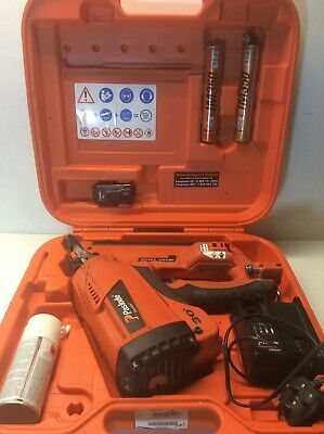 Paslode Impulse Im350+ Lithium Nail Gun 2017 + 2 Gases+ 1 Battery + Charger+Oil