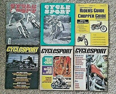 LOT 42 VINTAGE 1960's/70's MOTORCYCLE MAGAZINES ~ CYCLE GUIDE SPORT MECHANICS +