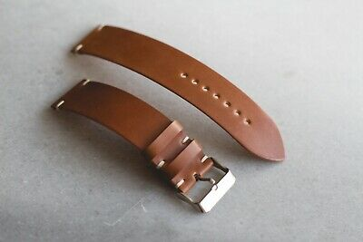 Shell Cordovan leather watch strap Handmade classic vintage watchband