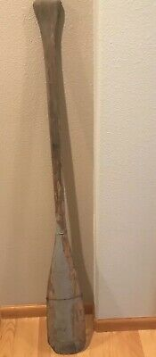 Old Vintage Wooden Boat Oar Paddle Rustic Patina 55in Cabin Beach Decor