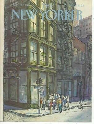 COVER ONLY ~ The New Yorker magazine ~ October 13 1980 ~GETZ ~ Walking tour