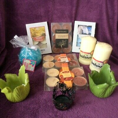 Ex-Shop Stock MIXED JOB LOT 2 ~Candles/Candle Holders ~27 items ~ReSell/Carboot