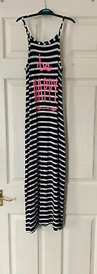 Girls Dress By YD At Primark Maxi Navy&white Stripe Sleeveles Dress Age 8/9yrs