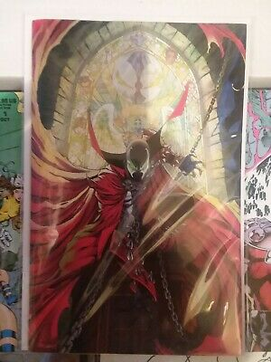 SPAWN 300 COVER M J SCOTT CAMPBELL VIRGIN VARIANT NM TODD McFARLANE