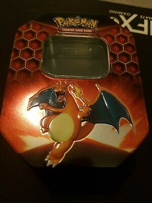 Pokemon Charizard Hidden Fates Collector's Tin + 50 Cards (5 Holo's)