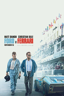 "Ford v Ferrari Poster 48x32"" 40x27"" 36x24 2019 Movie Film Art Print Silk"