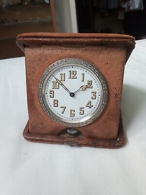Vintage folding Swiss travel clock