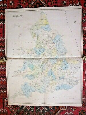 1830 Murray England Wales Railways Canals Large Old Antique Map 93x72cms SCARCE