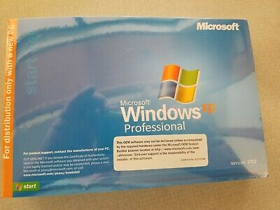 Microsoft Windows XP Professional 2002 Includes Service Pack 3 Sealed