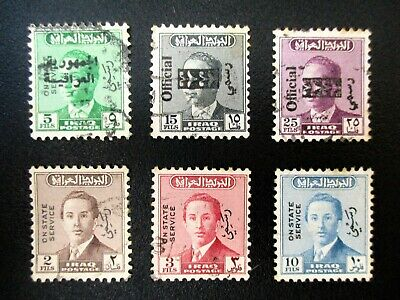 timbres IRAQ postage official / on state service