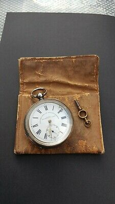 Fattorini & Sons Eclipse large solid silver antique pocket watch.