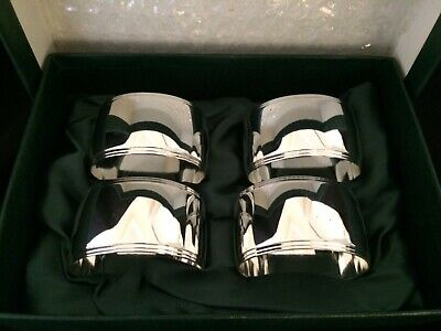 Marks & Spencer Silver Plated Napkin Rings Set of 4.