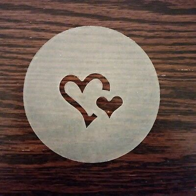 NEW Set of 3 Barista Coffee Stencils for Cappuccino Latte Art Hearts Music Star