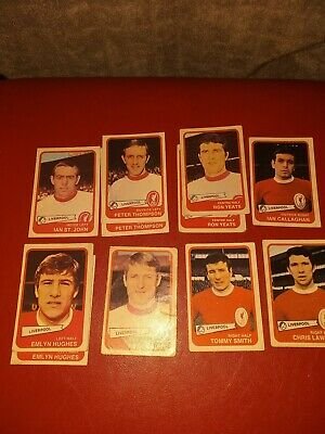 Abc Footbal Cards. Yellow back, Liverpool.