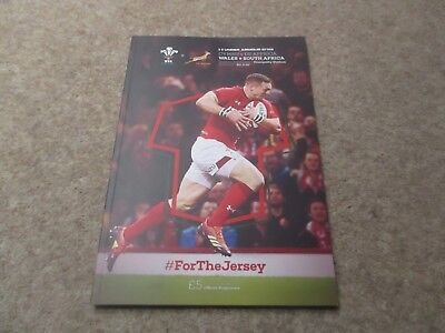Wales v South Africa Saturday 24th November 2018 Under Armour  Series Programme