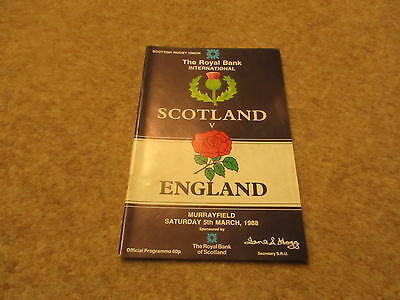 Scotland v England Saturday 5th March 1988 Official Programme