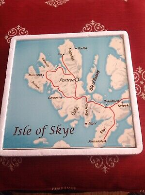 SKYE TILES Hand Painted Ceramic Tile Of The Isle Of Skye