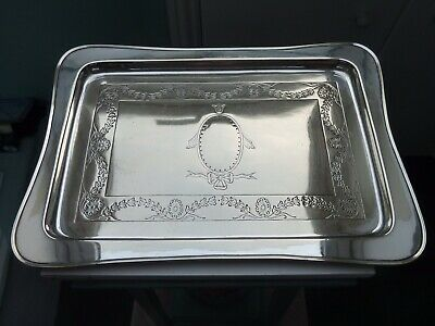 Superb Antique Georgian Style Silver Plated Platter Tray Serving Dish