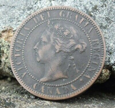 1897 Canada Queen Victoria One Cent Coin VGC