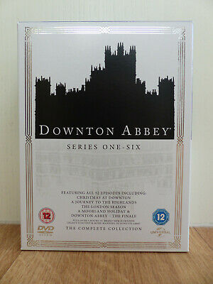 Downton Abbey Series 1 to 6 Complete Collection Region 2 DVD. Very good cond.