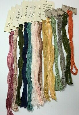Weeks Dye Works, The Gentle Art Sampler Threads Hand Dyed 11 New, 3 Partial