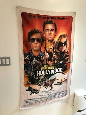 Once Upon A Time In Hollywood Poster Flag Banner Fabric Wall Tapestry 3x5 Feet