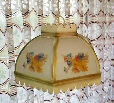 Vintage Hanging Dome Pendant Ceiling Shade Fixture Light - NICE!