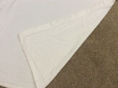 Mothercare Cot crib white brushed cotton flat sheet baby 100% cotton 70x88cm