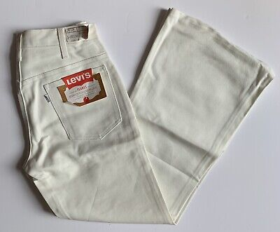 X2 Levi Big E Flares White Bell Bottoms X2 Deadstock Bnwt