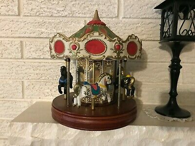 Waco Melody In Motion Merry Go Round Porcelain Horse Carousel Music Japan